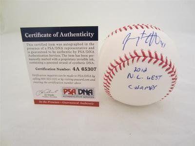 """Jeremy Affeldt Signed Baseball """"2012 Nl West Champs"""" Inscribed dnagiants - PSA/DNA Certified - Autographed Baseballs by Sports Memorabilia. $66.79. JEREMY AFFELDT SIGNED BASEBALL """"2012 NL WEST CHAMPS"""" INSCRIBED PSA/DNAGIANTS"""