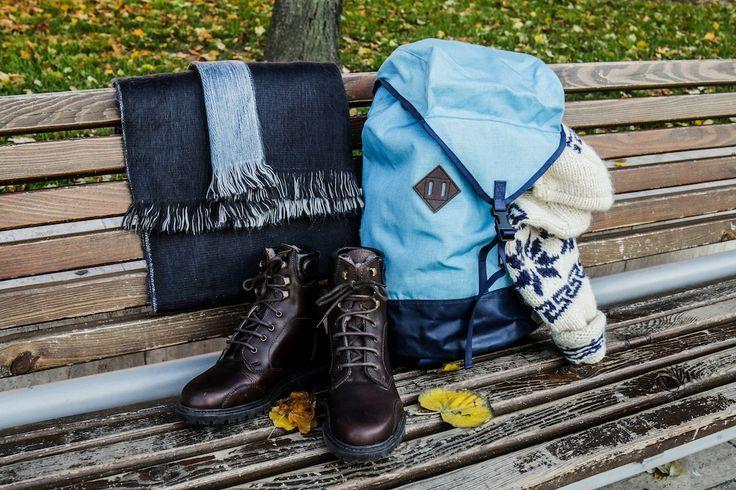 Scarf: http://retrock.com/products/smoky-blue-alpaca-scarf-from-ecuador-hilltribe  Bag: http://retrock.com/products/sky-blue-tour-bag  Sweater: http://retrock.com/products/sweater-56   Boots: in the store