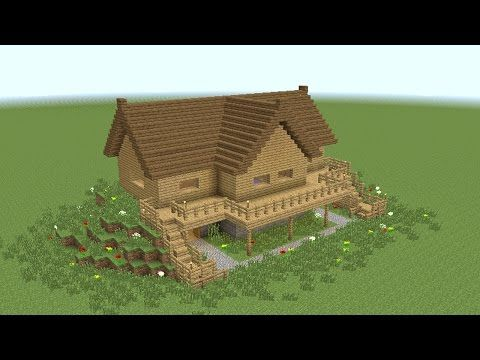 MINECRAFT: How to build wooden mansion - YouTube