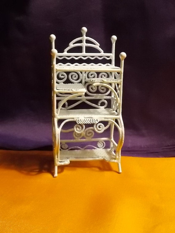 Doll House Victorian Bakers Rack  Dollhouse by Louisianaminis, $16.95