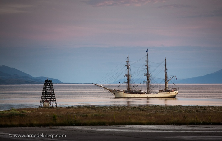 "My home for the next three weeks; Barque ""Europa"" - anchored in the Beagle Channel near Ushuaia, Argentina.  Destination Antarctica! a dream coming true. (c) Arne de Knegt Photography 2013"