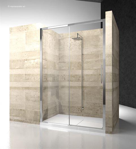 model zn: niche installation - Serie 7000 The 6mm sliding shower enclosure with minimal profiles - #bathroom #bathroomdesign #bath #showerthis #bathtub #showerenclosure #boxdoccia #cabinadoccia