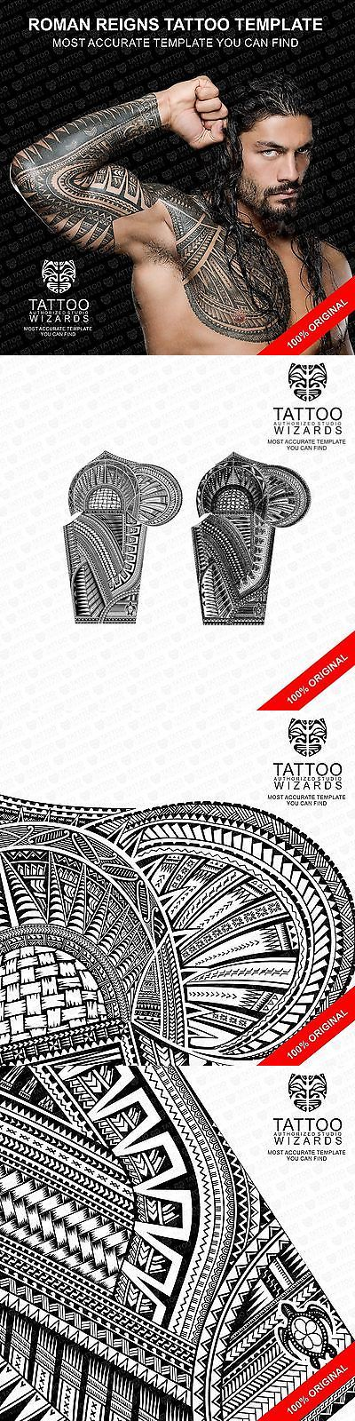 Temporary Tattoos: Roman Reigns Tattoo Stencil Template -> BUY IT NOW ONLY: $149.99 on eBay!
