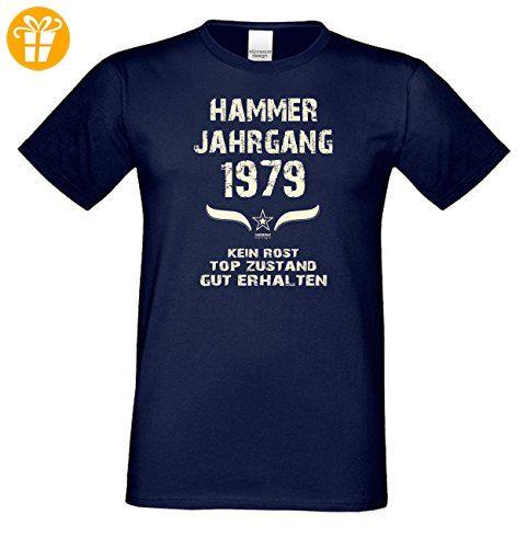Geschenk zum 38. Geburtstag : Hammer Jahrgang 1979 : Geschenkidee Geburtstagsgeschenk für Ihn - Herren Männer Kurzarm T-Shirt Geschenkset Farbe: navy-blau Gr: 3XL (*Partner-Link)