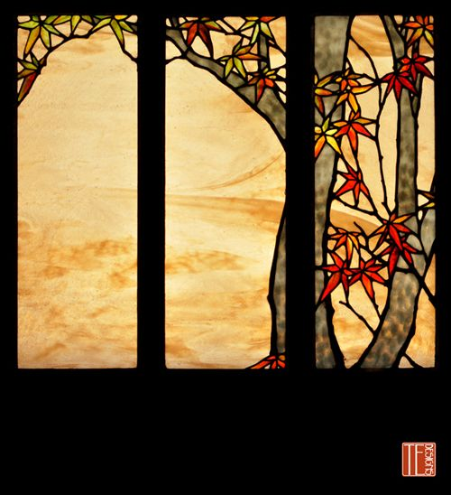 Very asian style stained glass