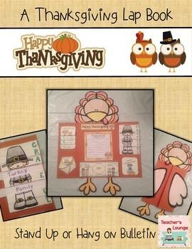 Kids will have so much fun with this Thanksgiving Themed Turkey Lap Book craft and writing activity. The foldables are simple enough for young students to cut and glue, and engaging enough for older students to have a blast with this creative activity.