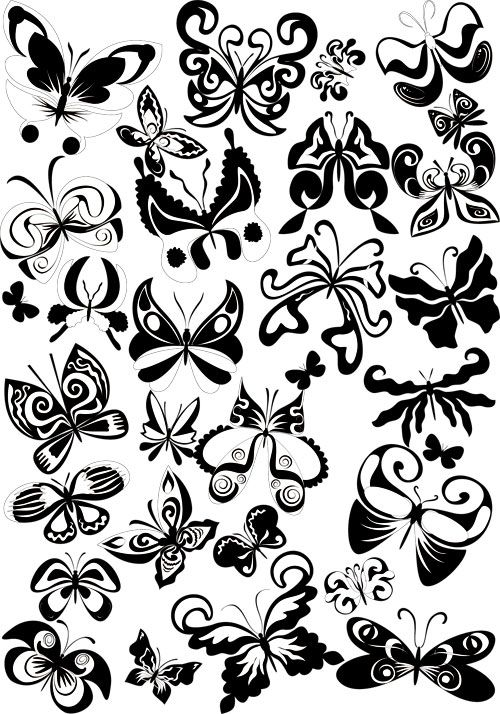 Decorative butterflies vector | Vector Graphics Blog