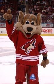 Phoenix Coyotes. Howler is so cute!