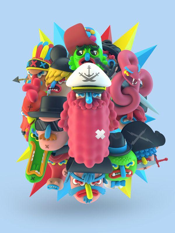 3D Illustrations on Behance