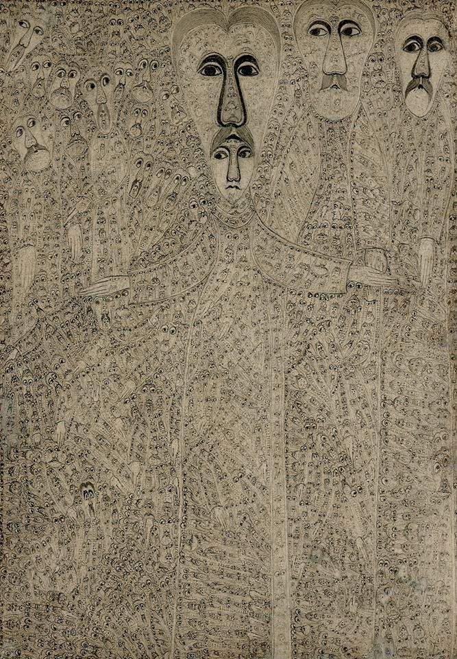 The highly detailed drawings of Edmund Monsiel, in RV 10. http://rawvision.com/shop/raw-vision-10