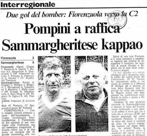 Il mitico titolo del Secolo XIX per celebrare il successo del Fiorenzuola sulla Sammargheritese ormai è un must ovunque… (8 giugno 2012)