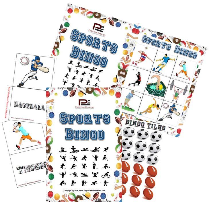 BINGO - Sports Bingo (Clipart)   Fun Game
