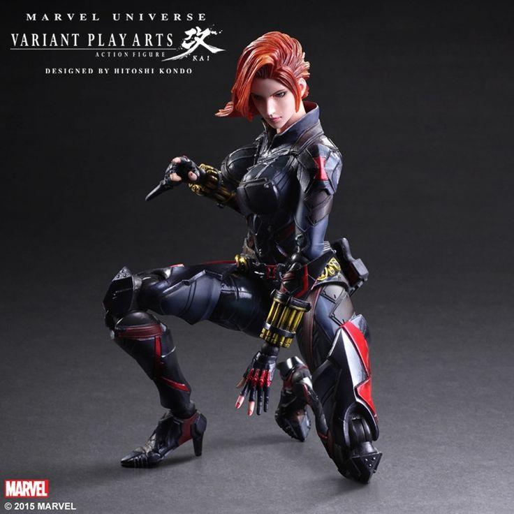 (57.00$)  Buy here  - 1pcs Avengers 2 PA Black Widow Natasha Romanoff action pvc figure toy tall 27cm in box.