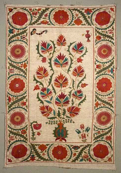 Suzani Embroidery: A Recent Tashkent Suzani from Marla Mallett