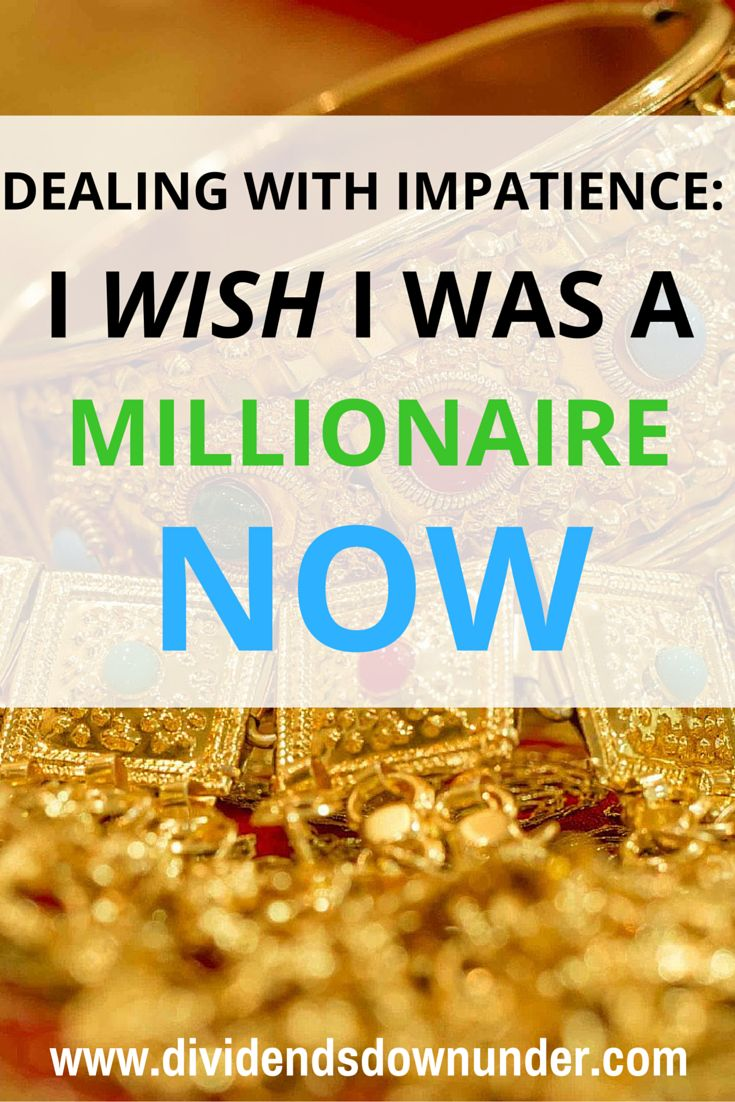 Patience is a key trait for a long term investor, it's a virtue after all. How do you continue your path to wealth without letting impatience take over?.. Australian Personal Finance Blog https:/dividendsdownunder.com