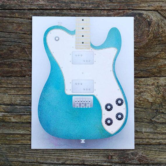 Fender Telecaster 72 FSR Guitar Limited Run by HopperDesignStudio, $15.00