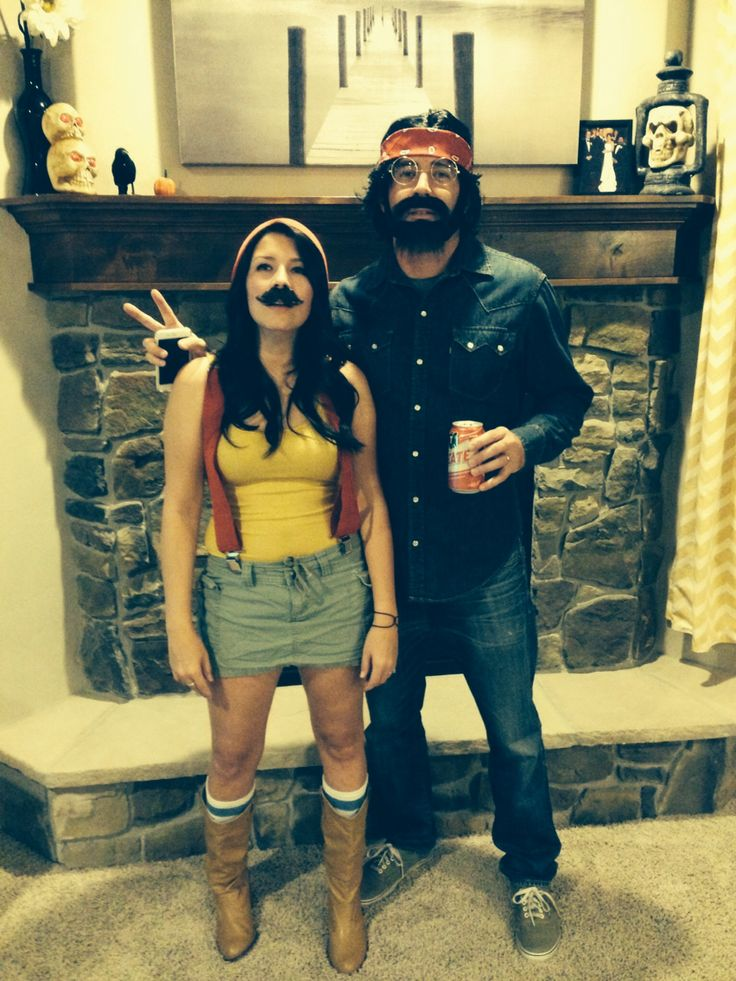 Funny Couples Costume Cheech And Chong  My Style -5398