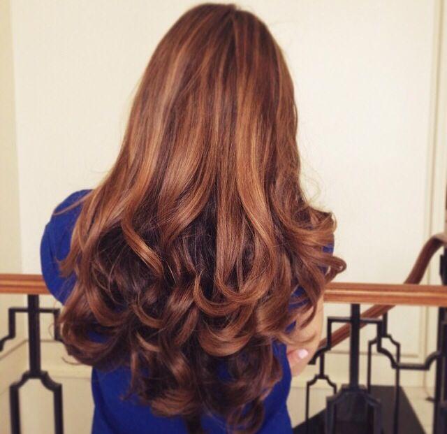 Amelia Liana - soft brown hair color. Dimension, vibrant, chestnut