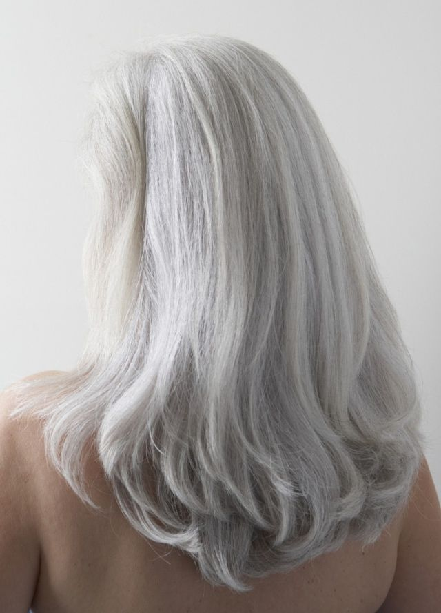 Photos of Gorgeous Gray Hairstyles: Long, Silvery-Gray Hair.... this is were I will be very soon
