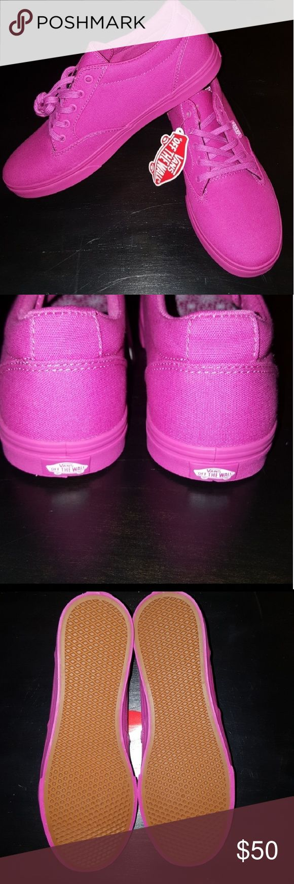 NEW Mono Winston low all pink Vans Very Berry NWOB Mono pink VANS Winston low all pink Vans Very Berry  Size 7.5 and 6.5 available Vans Shoes