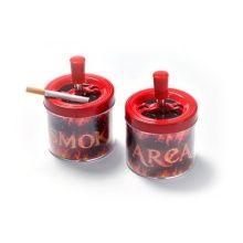 Popielniczka 0219300 obrotowa, metal/plastik, czerwona, 9.5 cm