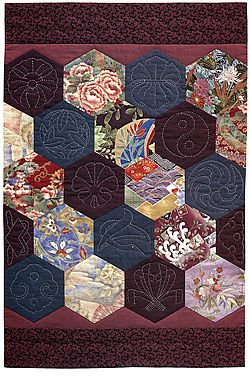 Quilting with Japanese Fabrics by Kitty Pippen, a quilt book