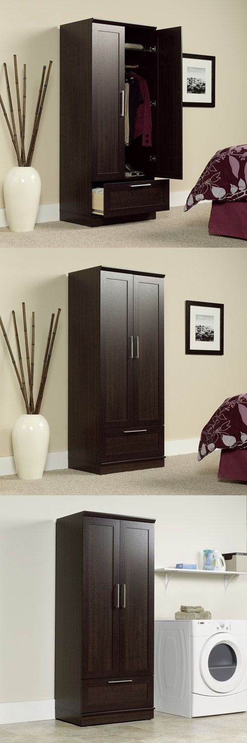 Armoires and Wardrobes 103430: Armoire Wardrobe Storage Cabinet Closet Shelf Organizer Wood Bedroom Furniture -> BUY IT NOW ONLY: $176.95 on eBay!