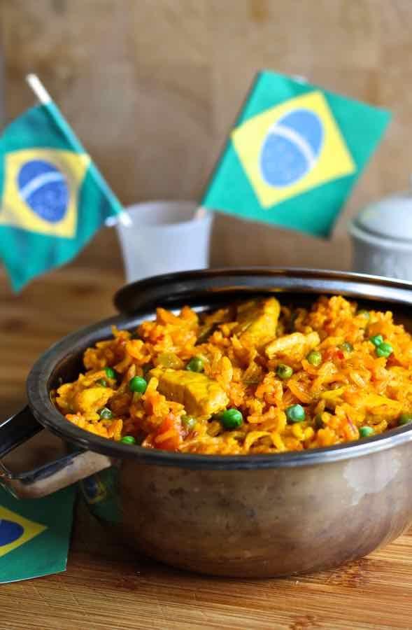 Galinhada Brazilian Chicken Amp Rice Casserole Brazilian Food