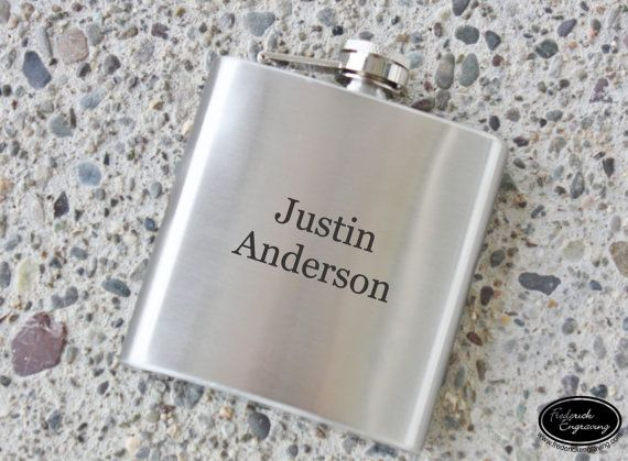 Personalized Flask, Custom Flask, Engraved Flask, Leather Flasks, Stainless Hip Flask, Black Flask, Gift for Him, Groomsmen Gift, Bachelors Gift, Bridesmaid Gifts, Fathers Day Gift, Stocking Stuffer  This custom flask will be personalized with any text in your choice of fonts. It
