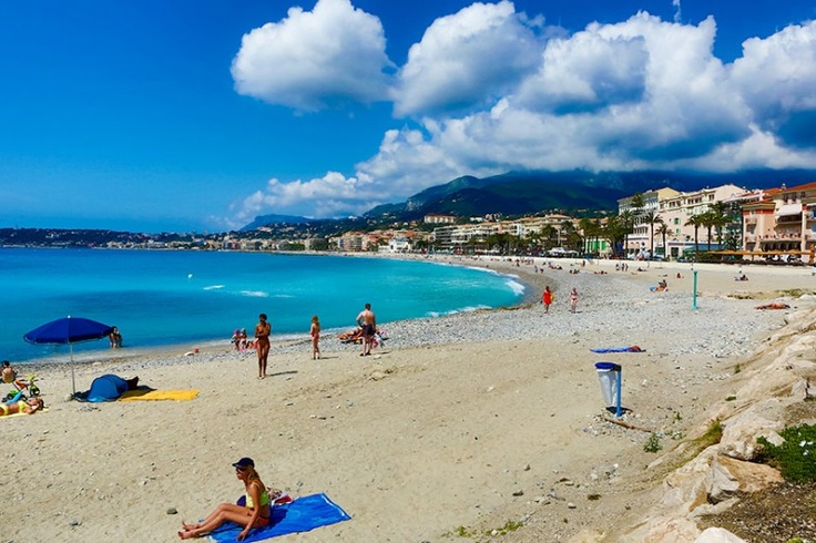The rocky but sunny beach of Menton, France #www ...