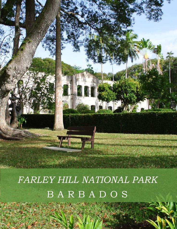 We love the stunning views and tranquility of Farley Hill National Park, Barbados