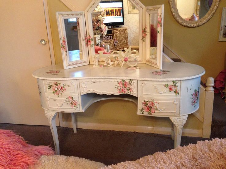 Decoupage Dressing Table Projects To Try Pinterest