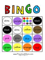 Printable Colors Bingo Game This is a set of printable BINGO cards  featuring the different colors.  Some colors  are featured multiple time...