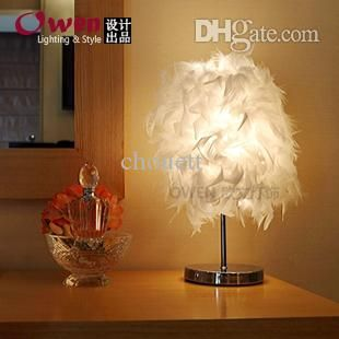 Touch Lamps Whole Creative Gift Feather Table Bedroom Bedside Lamp