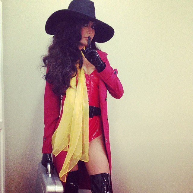 Some stars really don't hold back when it comes to creative Halloween costumes. Naya Rivera as Carmen Sandiego