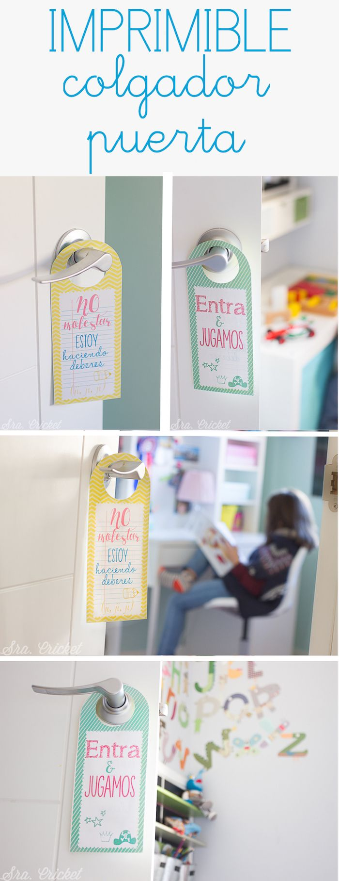 Colgador puerta ni os descargable free printable kids door for Colgadores de ropa para puertas