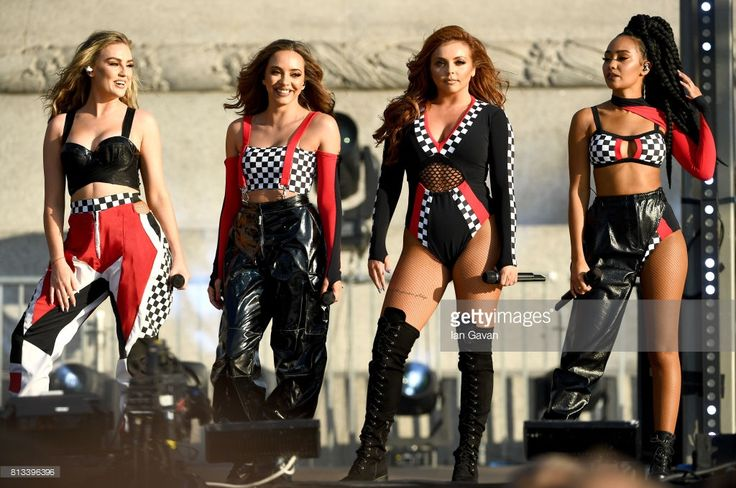 Perrie Edwards, Jade Thirlwall, Jesy Nelson and Leigh-Anne Pinnock of Little Mix perform on stage at the F1 Live in London event at Trafalgar Square on July 12, 2017 in London, England. F1 Live London, the first time in Formula 1 history that all 10 teams come together outside of a race weekend to put on a show for the public in the heart of London.