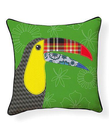 Look at this #zulilyfind! Toucan Pillow #zulilyfinds