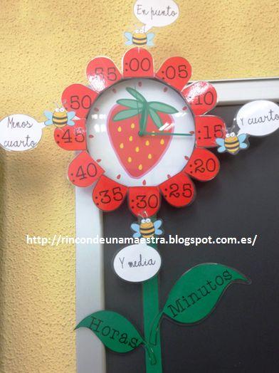 Hoy os quiero enseñar el toque nuevo que le he dado al reloj de mi aula. Llevo dos años con el mismo reloj, que os enseño aquí: reloj  y es...