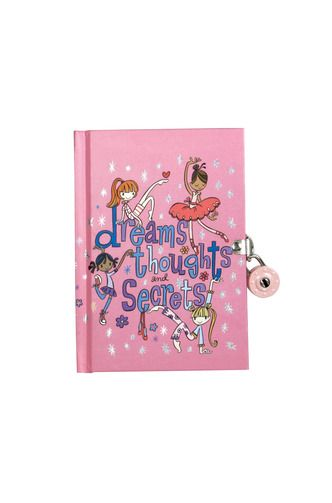 Har du en hemmelig drøm om at blive en verdensberømt danser? Skrive en sjov historie, som du næsten ikke kan vente med at fortælle dine venner, eller er du ved at sprænge fordi du bare må fortælle den historie du hørte i skole til eneller anden. Nu kan du dele al dette i denne dagbog og låse alle hemmelighederne inde med den farverige hængelås.   Farvet hængelås med 2 nøgler  192 linierede sider med dekorative symboler  Dagbogen måler ca. 10 x 14,6 cm.  Til børn over 4 år