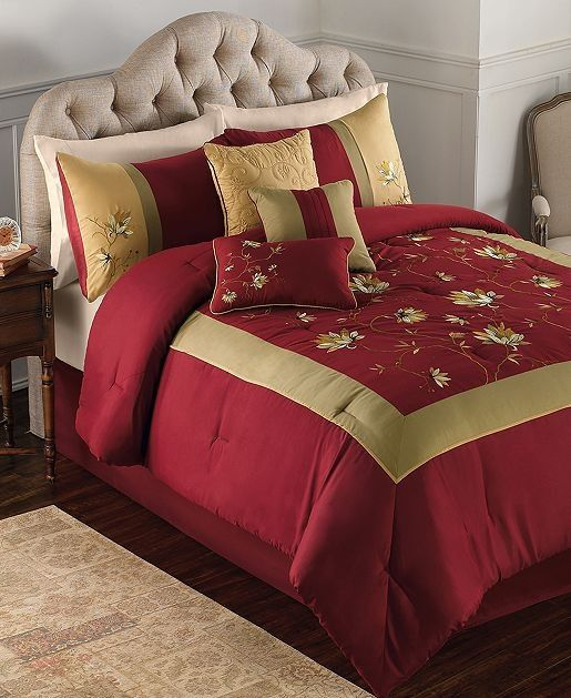 Red And Gold Bedding Pinterest