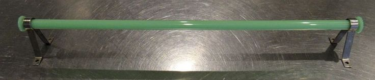 Jade-ite Jadite Depression Era Kitchen Single Towel Bar With Mounting Brackets