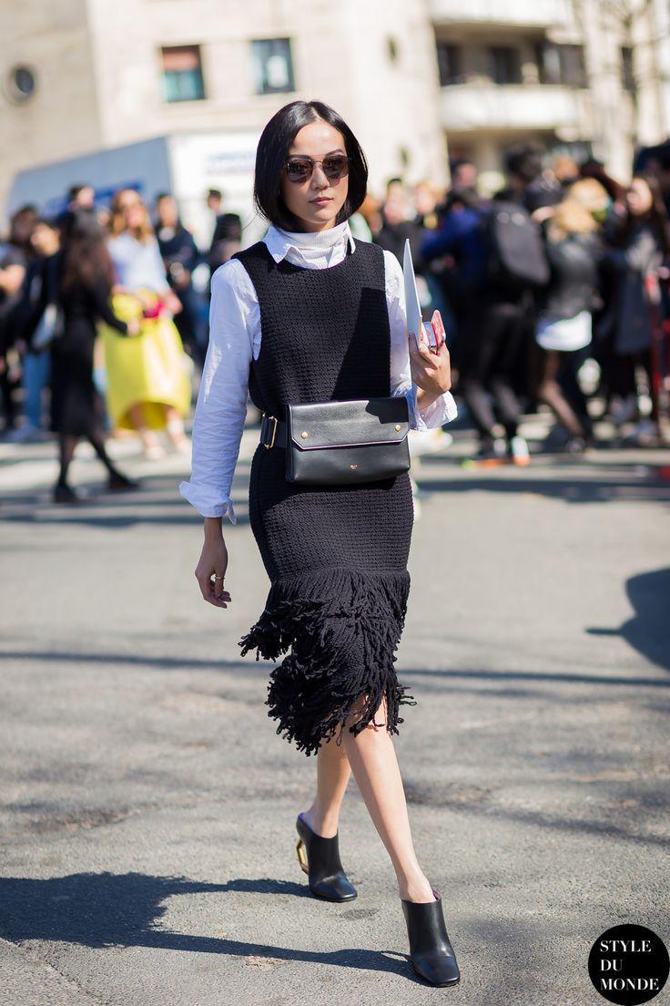 Yoyo Cao Street Style Street Fashion Streetsnaps by STYLEDUMONDE Street Style Fashion Blog