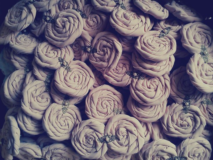ready for a special project fabric flowers