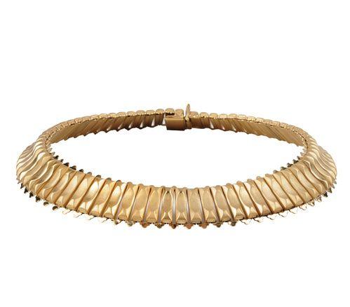 Le collier choker doré Ava d'Aime par Magali Pont