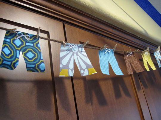 Cute idea for surf themed party... Have to find some cute scrapbook paper!