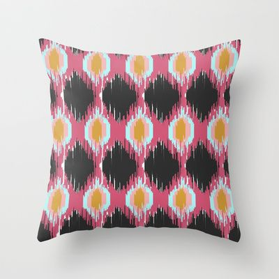 Ikat in Charcoal Throw Pillow by Neri Han - $20.00