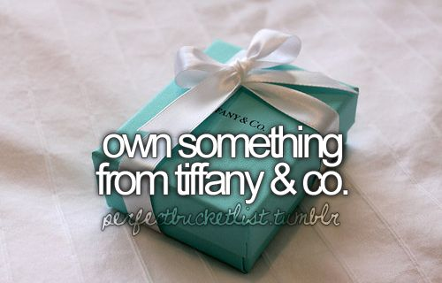 *Own hundreds of things from Tiffany & Co.