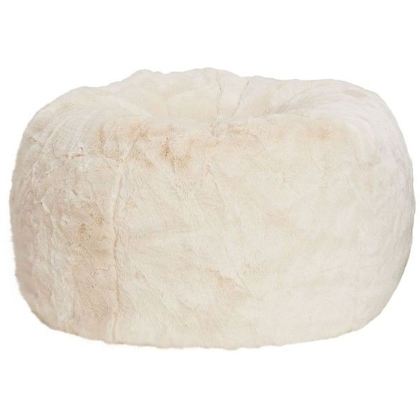 PB Teen Polar Bear Faux Fur Beanbag Small Slipcover Insert At 182 Liked On Polyvore Featuring Home Furniture Chairs Accent Bean Bag