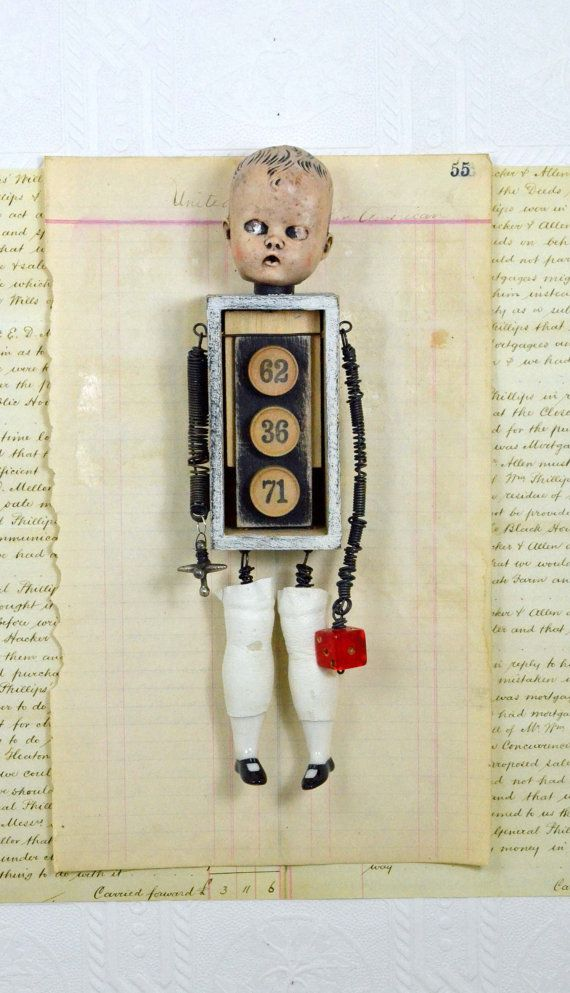 Assemblage Art Doll   Game Boy by Indiandollartworks on Etsy, $180.00